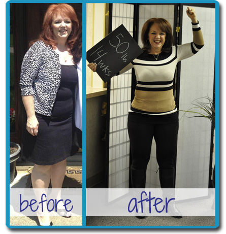 Kay Kelly before and after completing Horizons Weight Loss in Dayton, Ohio
