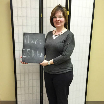 Sherry has lost 25 pounds on HCG weight loss in Dayton, Ohio at Horizons