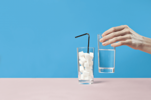 Choose water over sugary beverages